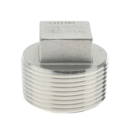 Thrifco Plumbing 9018093 3/4 Plug Stainless Steel - Packaged