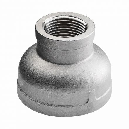 Thrifco Plumbing 9018034 3/4 X 1/4 Stainless Steel Reducer - Packaged