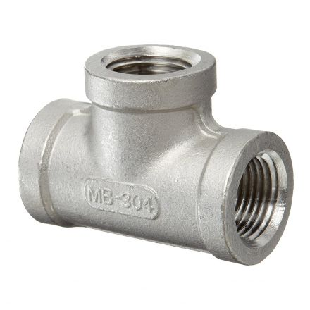 Thrifco Plumbing 9017066 3/4 Tee Stainless Steel - Packaged